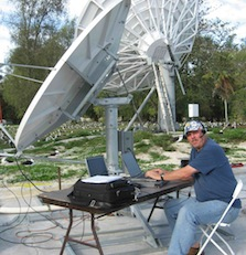 stu browne installing satellite communications facility on midway island